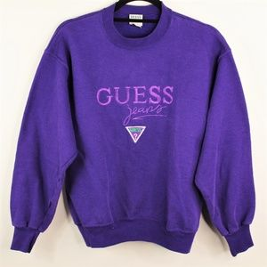 VTG Guess Georges Marciano Crewneck Purple Sweater